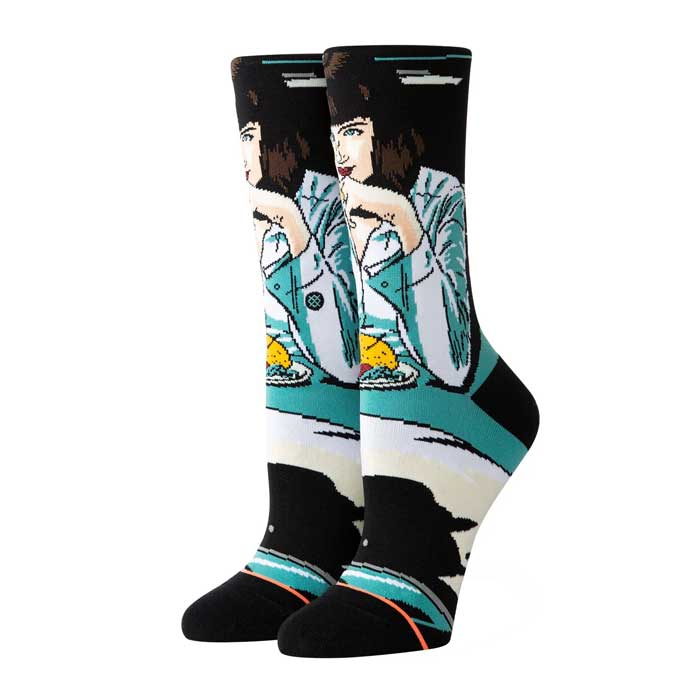 Stance Mia Booth crew sock in Teal