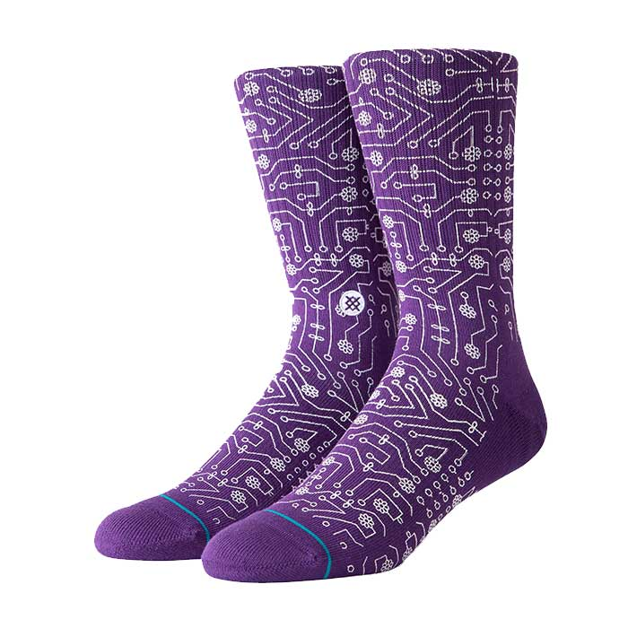 Stance Connector crew sock in Purple