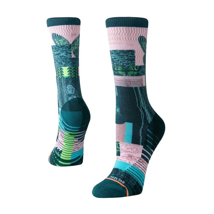 Stance Painted lady crew sock in Green