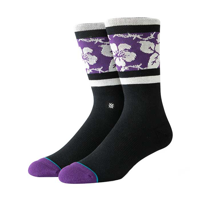 Stance Barbed Aloha crew sock in black