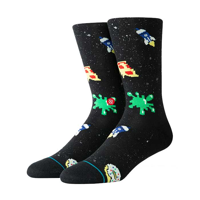 Stance Space Food crew sock in black