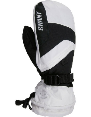 Swany X-Over Mitt in White and blac