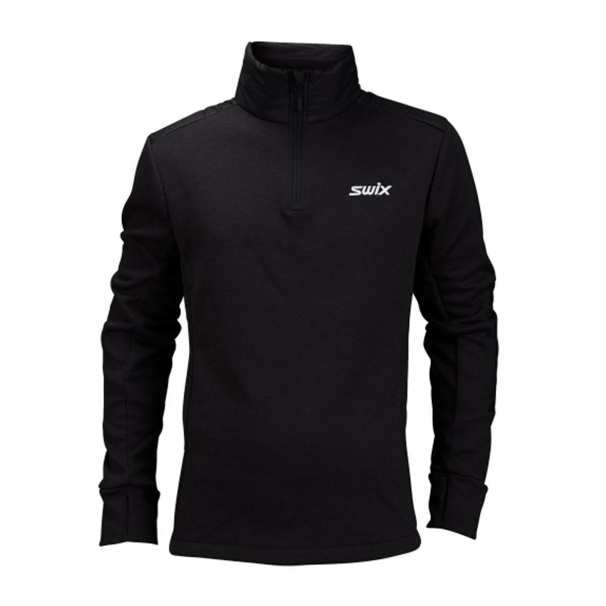 Swix Men's Blizzard 1/2 Zip Top in Black