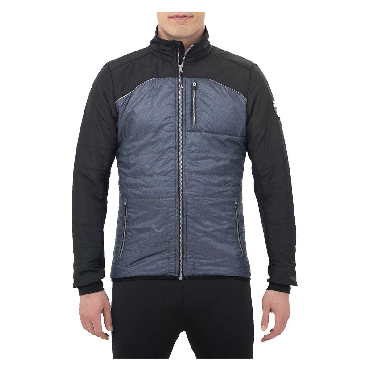 Swix Men's Menali Quilted Jacket in Heather Charcoal