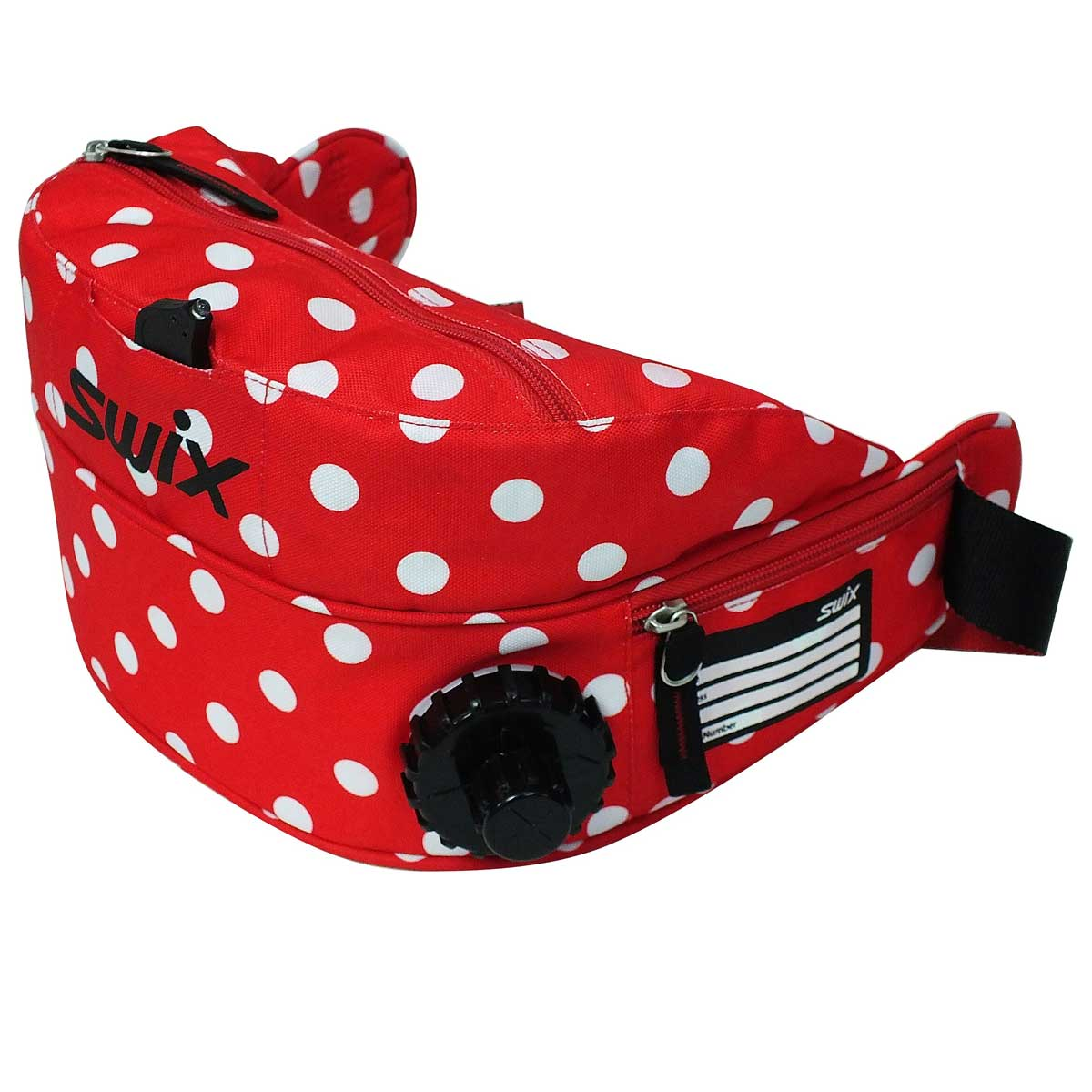 Swix Dot Drink Belt in Red and White