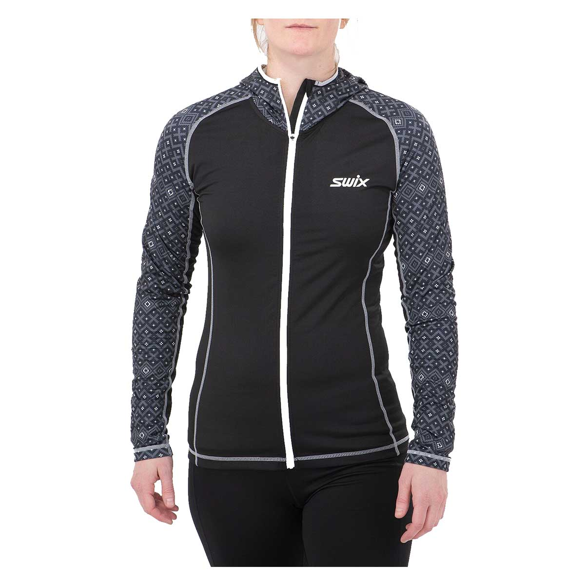Swix Women's Myrene Full Zip Hoody in Magnet Print
