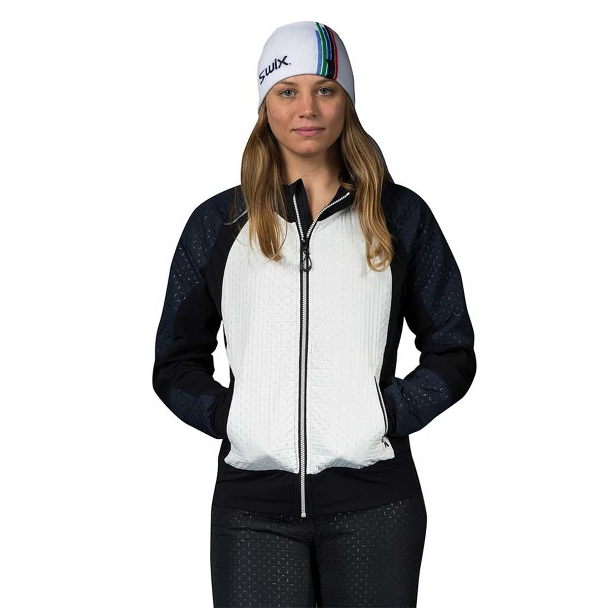 Swix Women's Menali Quilted Hoody in Snow White
