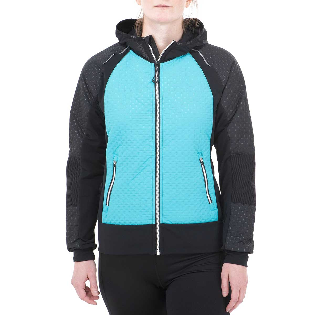 Swix Women's Menali Quilted Hoody in Turquoise