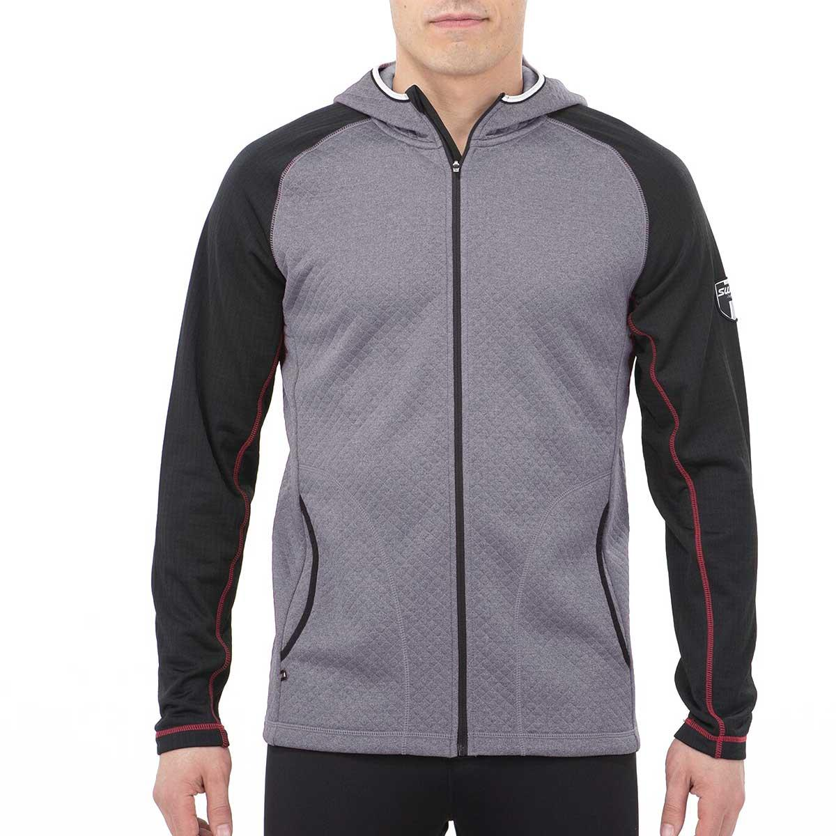 Swix Men's Nybo Full Zip Sweater in Heather Charcoal