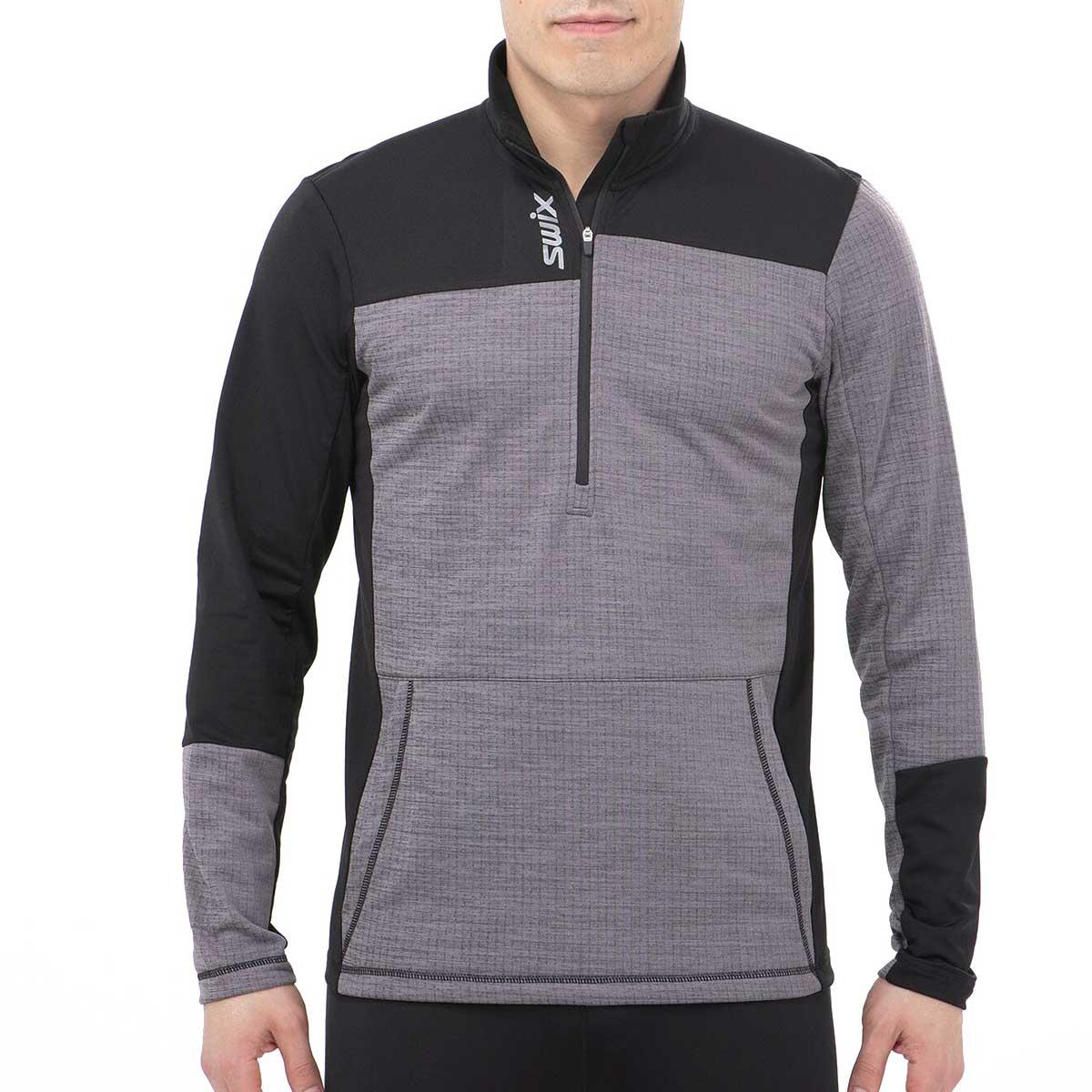 Swix Men's Nybo 1/2 Zip Sweater in Heather Charcoal