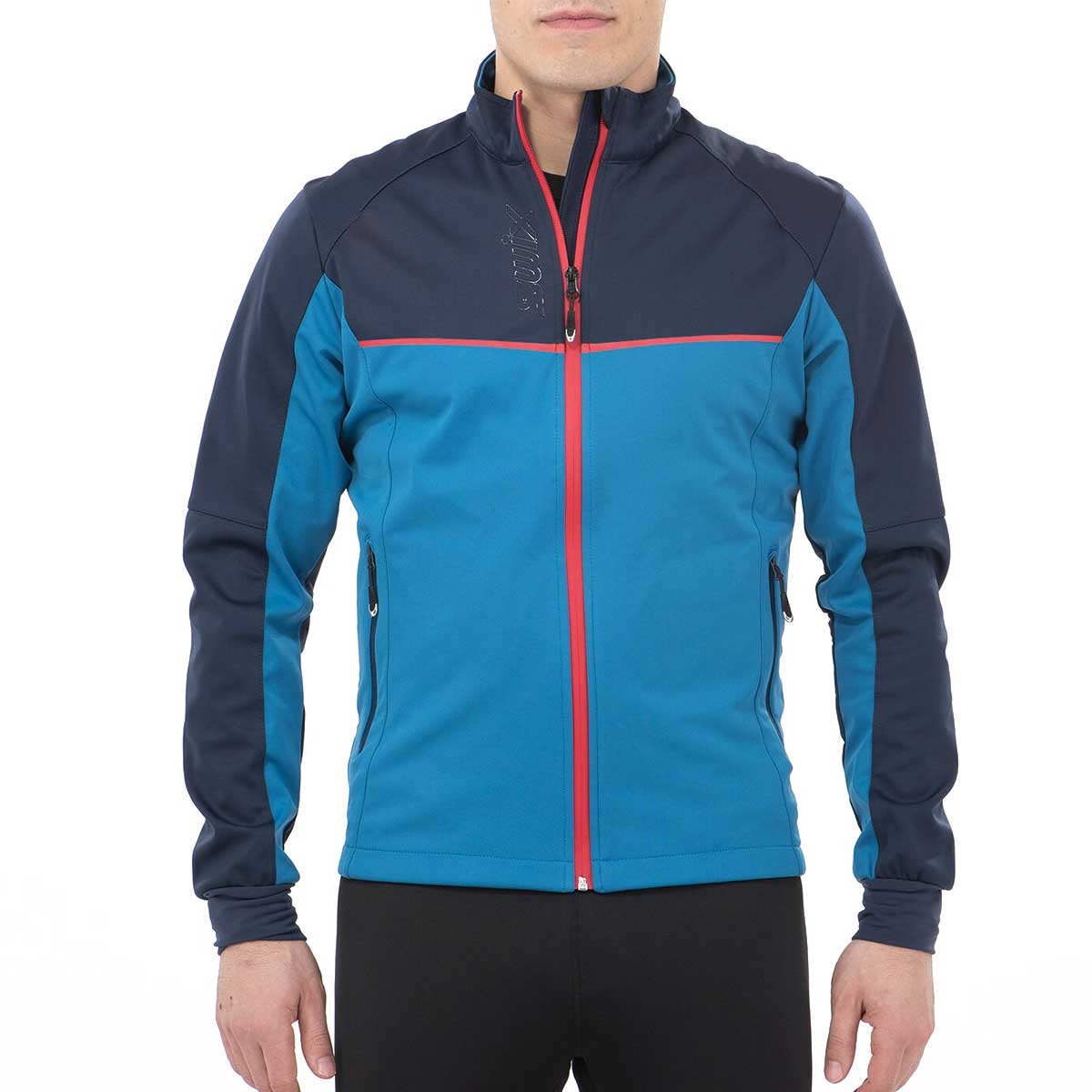 Swix Men's Delda Light Softshell Jacket in Blue Sapphire