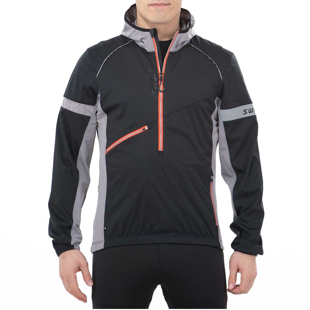 Swix Men's Nybo Pull Over Jacket in Black