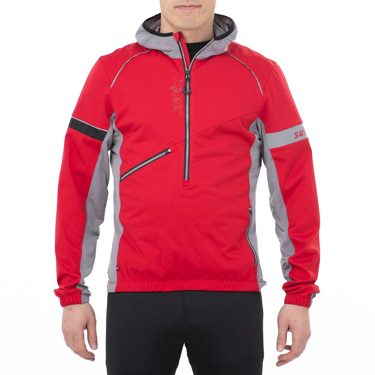 Swix Men's Nybo Pull Over Jacket in Swix Red