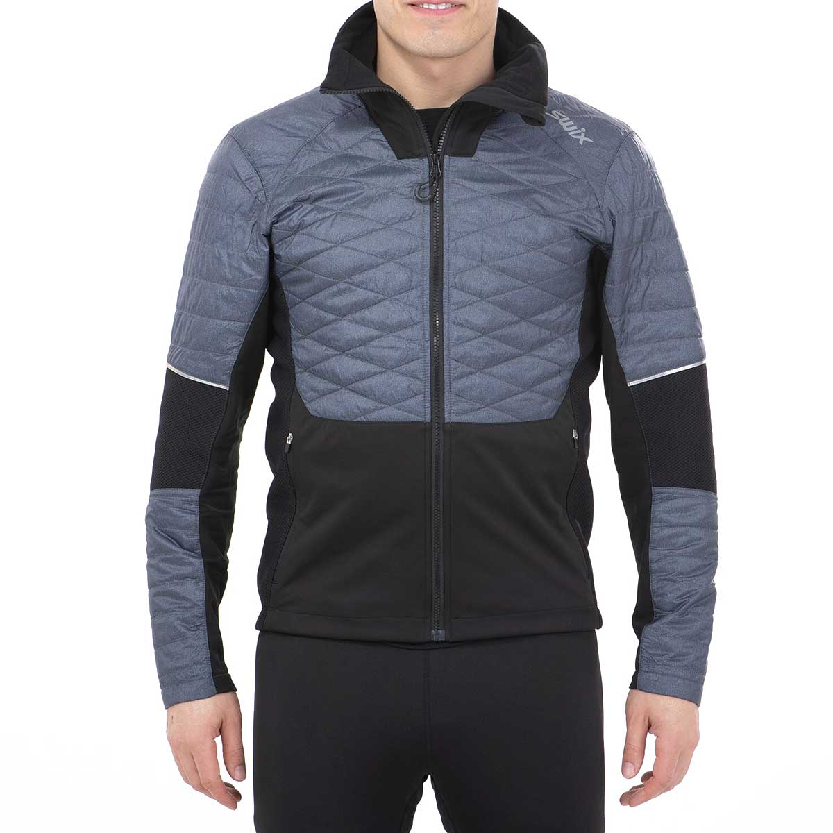 Swix Men's Keltten Hybrid Jacket in Heather Charcoal
