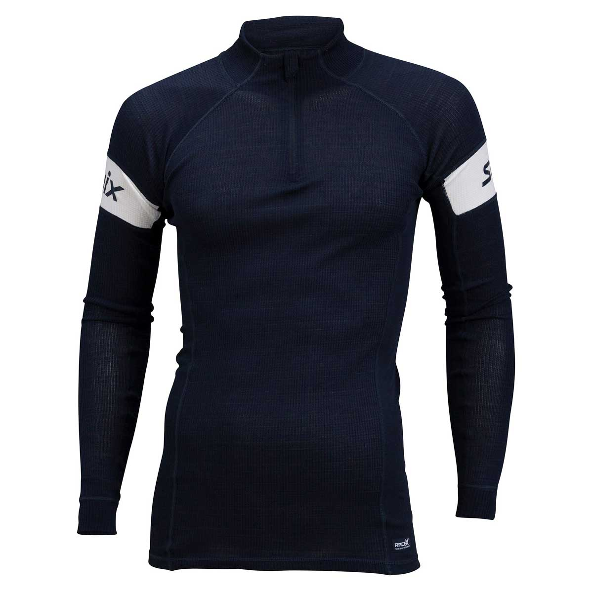 Swix Men's RaceX Warm 1/2 Zip Top in Dark Navy