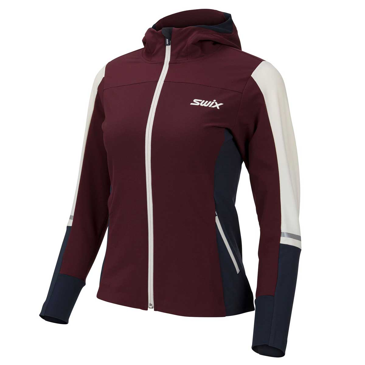 Swix Women's Evolution Soft Shield Jacket in Dark Aubergine