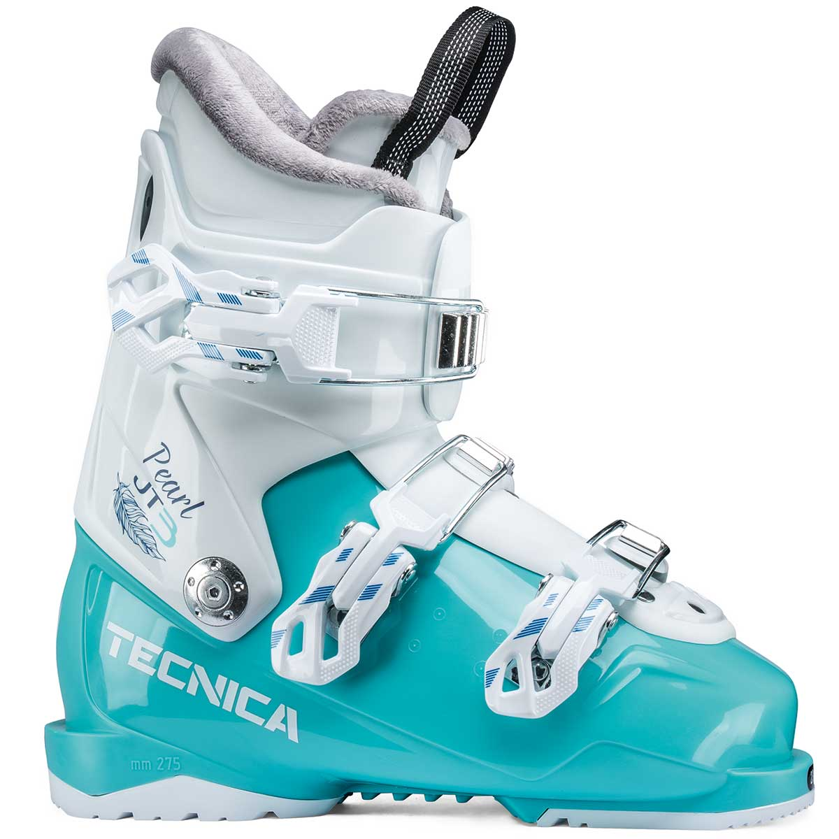 Tecnica JT 3 Pearl junior ski boot in light blue