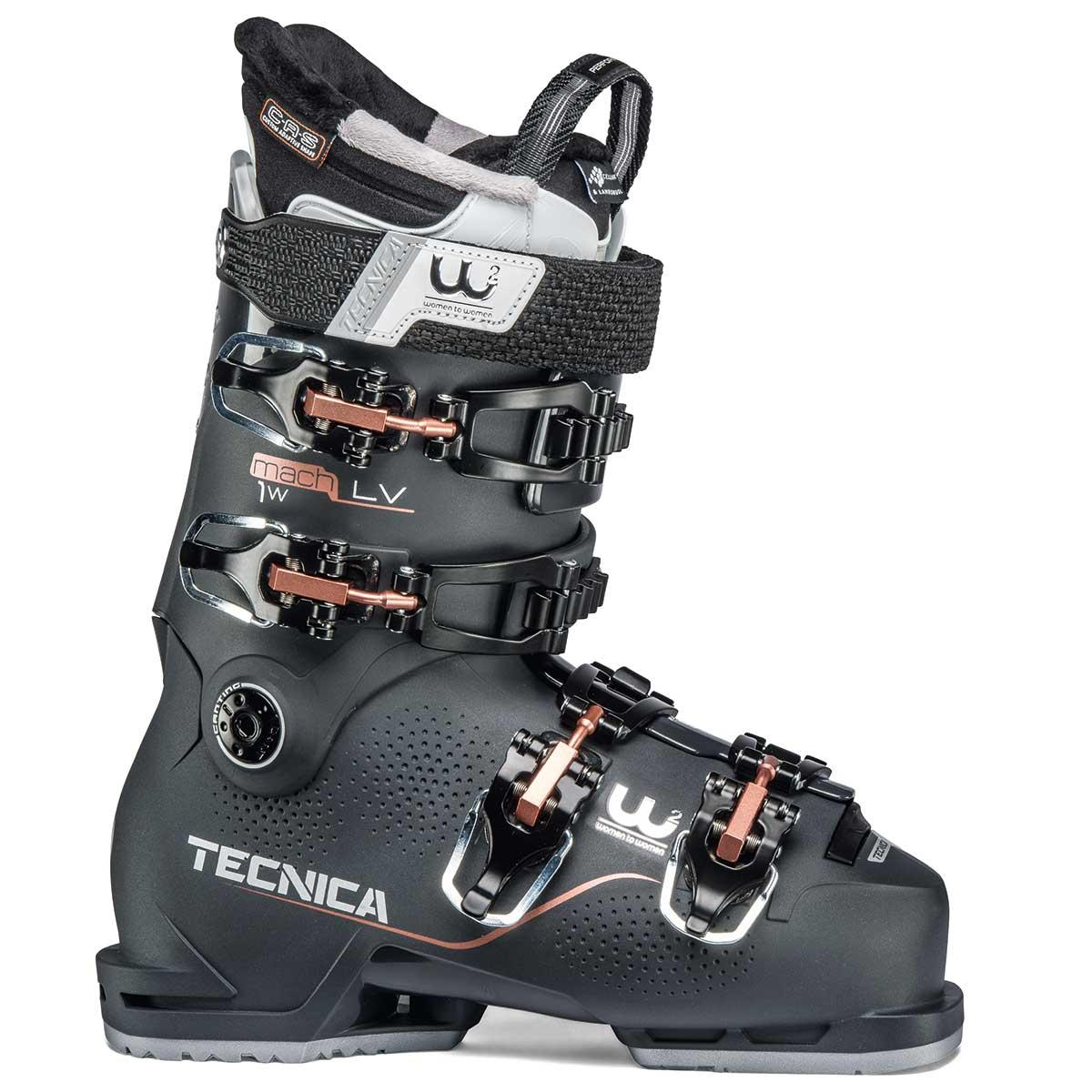 Tecnica Mach1 LV 95 W ski boot in graphite