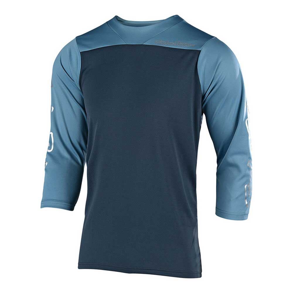 Troy Lee Designs Mens' Ruckus Jersey Block Charcoal and Stone Blue