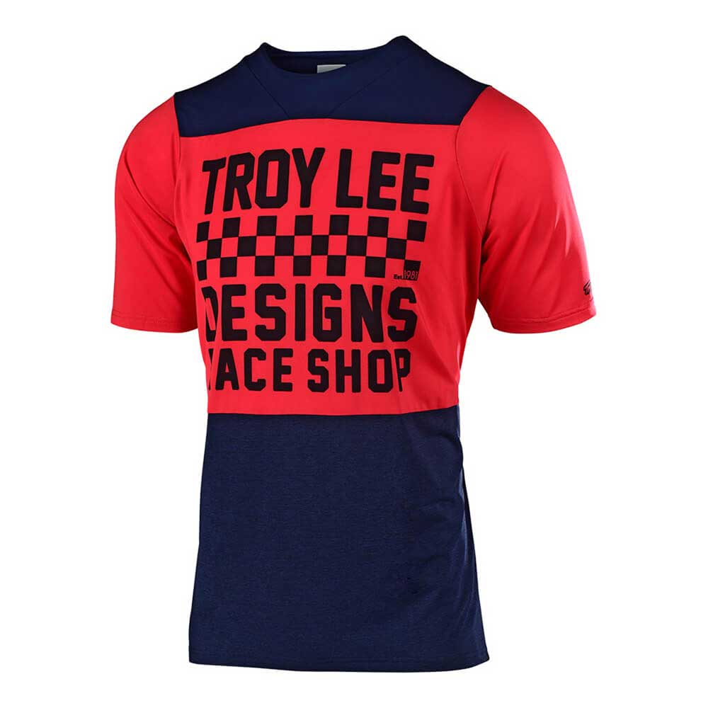 Troy Lee Designs Kid's Skyline Jersey Checkers Navy and Red