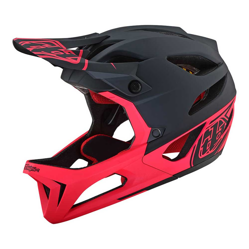 Troy Lee Designs Men's Stage MIPS Stealth Black and Pink