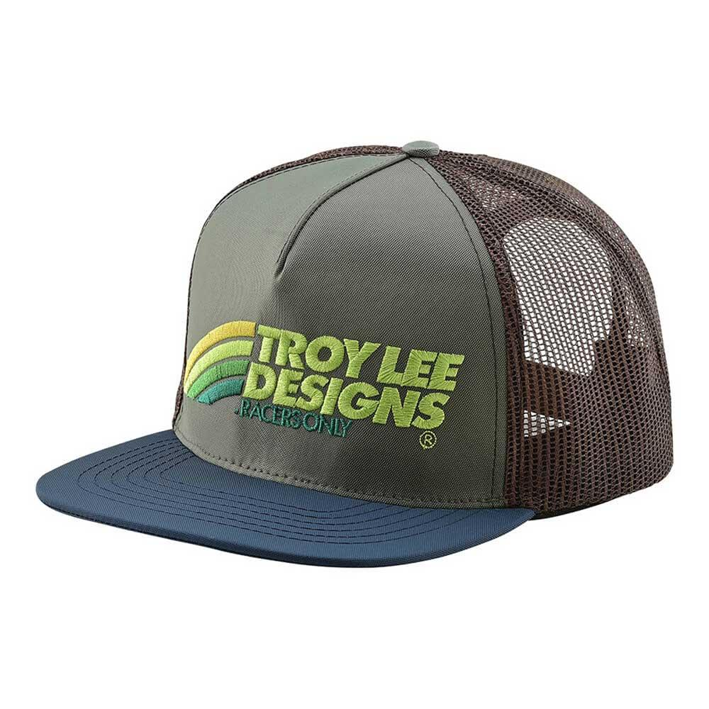 Troy Lee Designs Men's Velo Hat Green and Brown