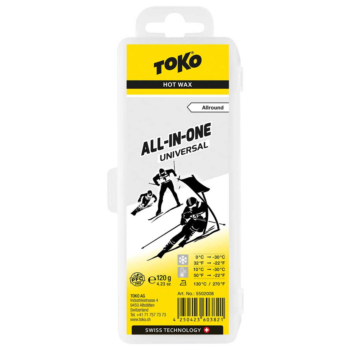 Toko All-In-One Hot Wax in Universal Grey