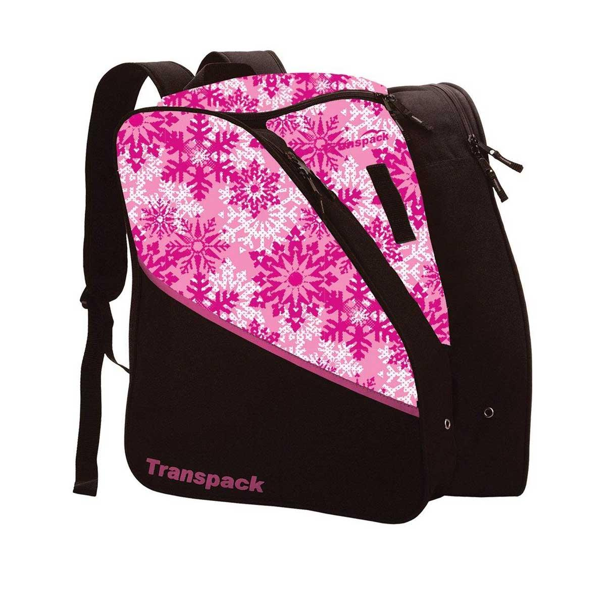 Transpack Kids' Edge Jr. Print Boot Bag in Pink Snowflake