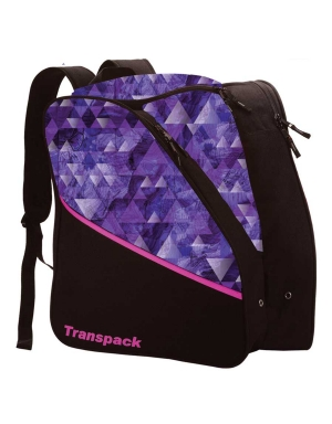 Transpack Kids' Edge Jr. Print Boot Bag in Purple Topo