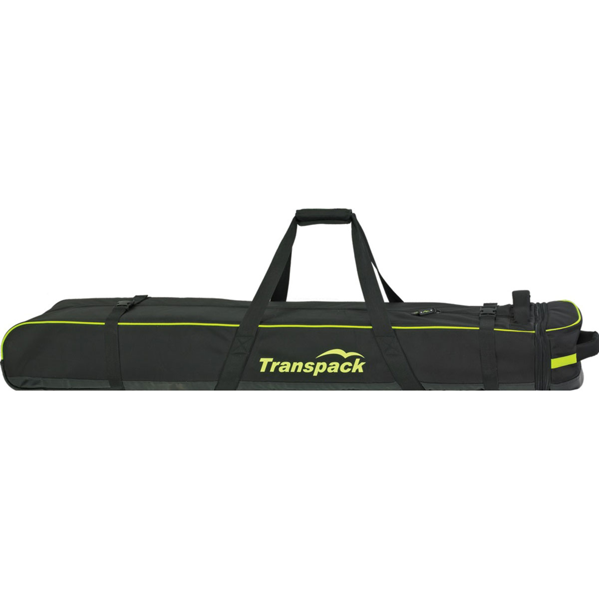 Transpack Ski Vault Double Pro Ski Bag in Black and Yellow Electric