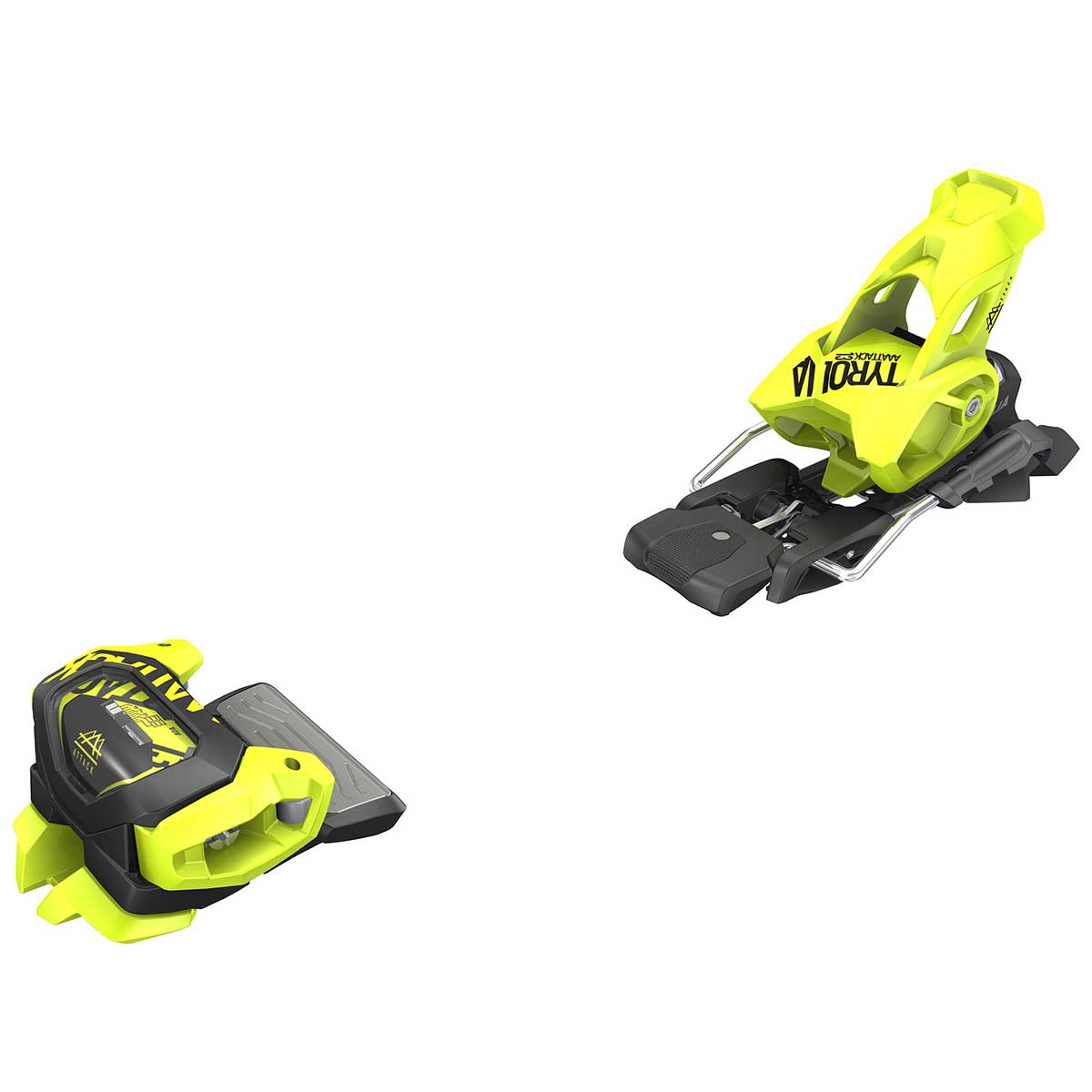 Tyrolia Attack2 13 GW ski binding in flash yellow