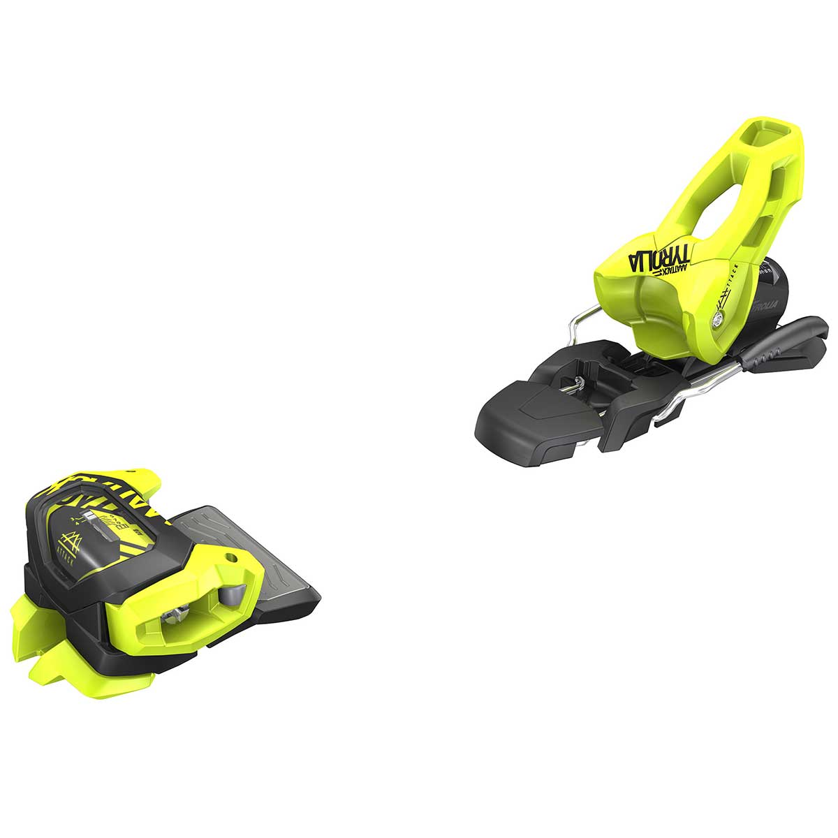 Tyrolia Attack2 11 GW ski binding in flash yellow